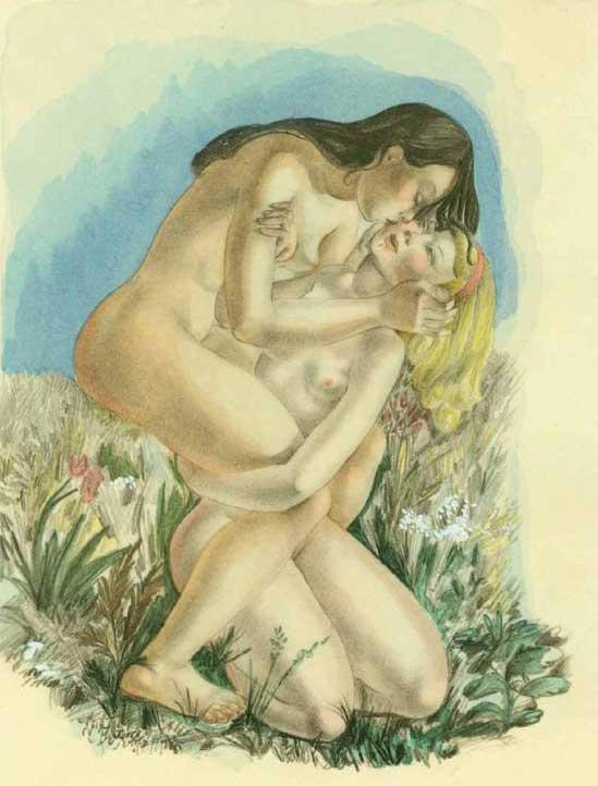 Женщины широко раздвинув ноги просто поодались страсти, каждая присроилась между